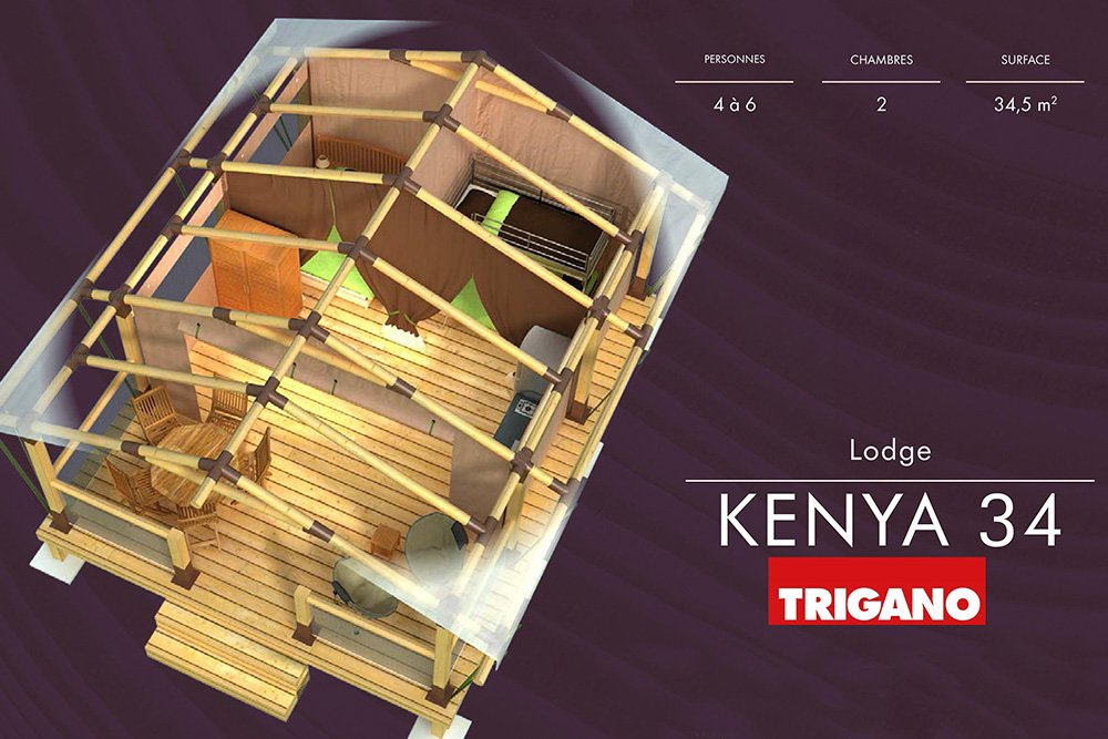 location tente lodge kenya plan